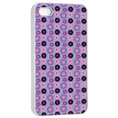 Cute Floral Pattern Apple iPhone 4/4s Seamless Case (White)