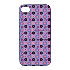 Cute Floral Pattern Apple Iphone 4/4s Hardshell Case With Stand