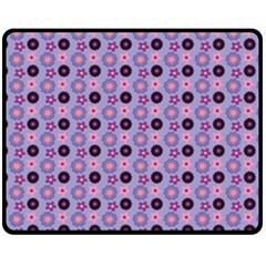 Cute Floral Pattern Double Sided Fleece Blanket (Medium)