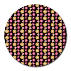 Cute Floral Pattern Round Mousepads