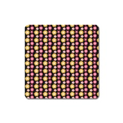 Cute Floral Pattern Square Magnet