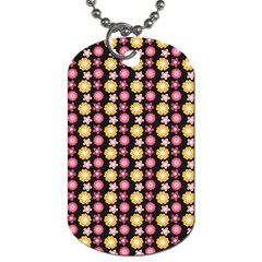 Cute Floral Pattern Dog Tag (two Sides)