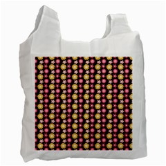 Cute Floral Pattern Recycle Bag (one Side)