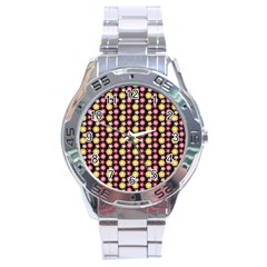 Cute Floral Pattern Stainless Steel Men s Watch