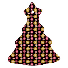 Cute Floral Pattern Christmas Tree Ornament (2 Sides)