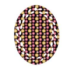 Cute Floral Pattern Ornament (Oval Filigree)