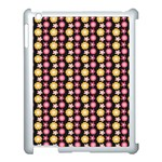 Cute Floral Pattern Apple iPad 3/4 Case (White) Front