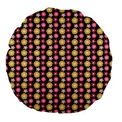 Cute Floral Pattern Large 18  Premium Flano Round Cushions