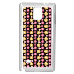 Cute Floral Pattern Samsung Galaxy Note 4 Case (white)