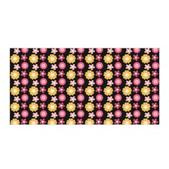 Cute Floral Pattern Satin Wrap