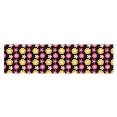 Cute Floral Pattern Satin Scarf (Oblong)