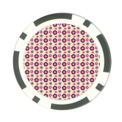Cute Floral Pattern Poker Chip Card Guards
