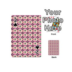 Cute Floral Pattern Playing Cards 54 (Mini)