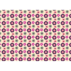 Cute Floral Pattern Birthday Cake 3d Greeting Card (7x5)