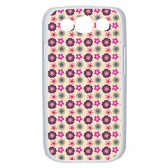 Cute Floral Pattern Samsung Galaxy S III Case (White)