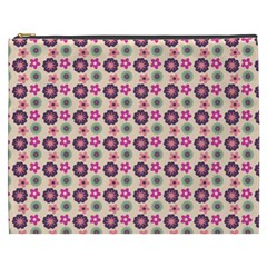 Cute Floral Pattern Cosmetic Bag (xxxl)