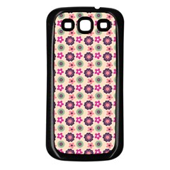 Cute Floral Pattern Samsung Galaxy S3 Back Case (black)