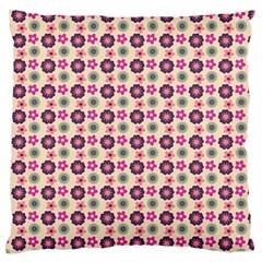 Cute Floral Pattern Large Flano Cushion Cases (Two Sides)