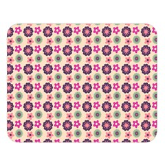 Cute Floral Pattern Double Sided Flano Blanket (Large)