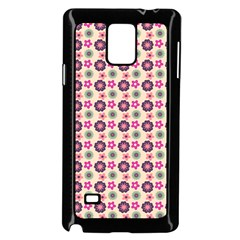 Cute Floral Pattern Samsung Galaxy Note 4 Case (Black)