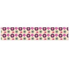 Cute Floral Pattern Flano Scarf (Large)