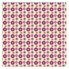 Cute Floral Pattern Large Satin Scarf (Square)