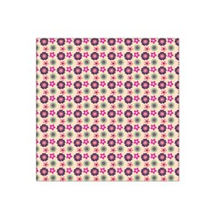 Cute Floral Pattern Satin Bandana Scarf