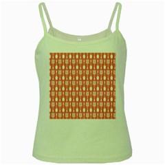 Pattern 509 Green Spaghetti Tanks
