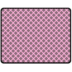 Cute Pretty Elegant Pattern Double Sided Fleece Blanket (Medium)