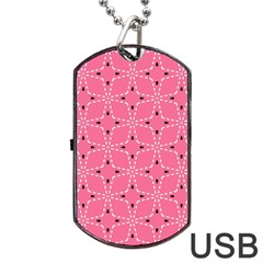 Cute Pretty Elegant Pattern Dog Tag USB Flash (One Side)