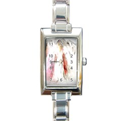 Abstract Angel In White Rectangle Italian Charm Watches