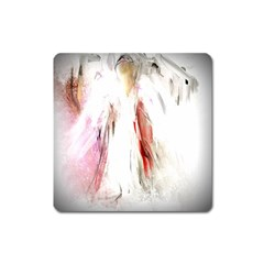 Abstract Angel In White Square Magnet