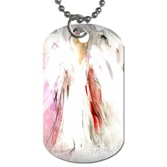 Abstract Angel In White Dog Tag (one Side)