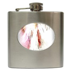 Abstract Angel In White Hip Flask (6 Oz)
