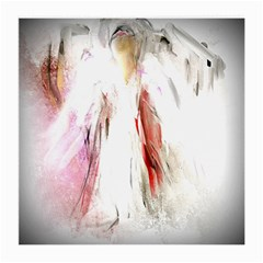 Abstract Angel in White Medium Glasses Cloth