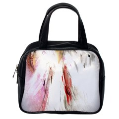 Abstract Angel In White Classic Handbags (one Side)