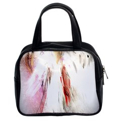 Abstract Angel In White Classic Handbags (2 Sides)