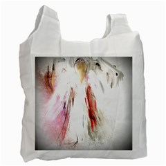 Abstract Angel In White Recycle Bag (two Side)