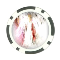 Abstract Angel In White Poker Chip Card Guards (10 Pack)