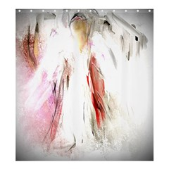 Abstract Angel In White Shower Curtain 66  X 72  (large)