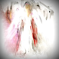 Abstract Angel in White Magic Photo Cubes