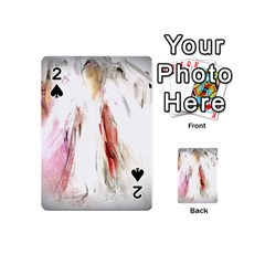 Abstract Angel in White Playing Cards 54 (Mini)