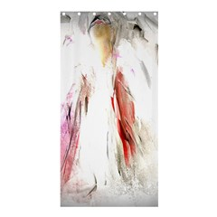 Abstract Angel In White Shower Curtain 36  X 72  (stall)