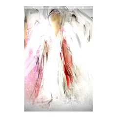 Abstract Angel in White Shower Curtain 48  x 72  (Small)