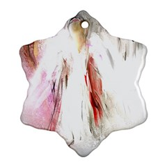 Abstract Angel in White Snowflake Ornament (2-Side)