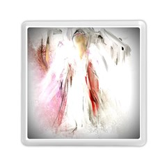 Abstract Angel In White Memory Card Reader (square)