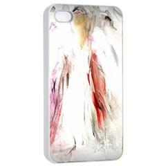 Abstract Angel In White Apple Iphone 4/4s Seamless Case (white)