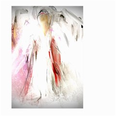 Abstract Angel in White Large Garden Flag (Two Sides)