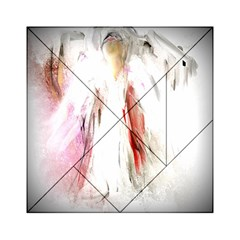 Abstract Angel in White Acrylic Tangram Puzzle (6  x 6 )