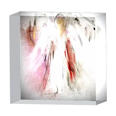 Abstract Angel in White 5  x 5  Acrylic Photo Blocks